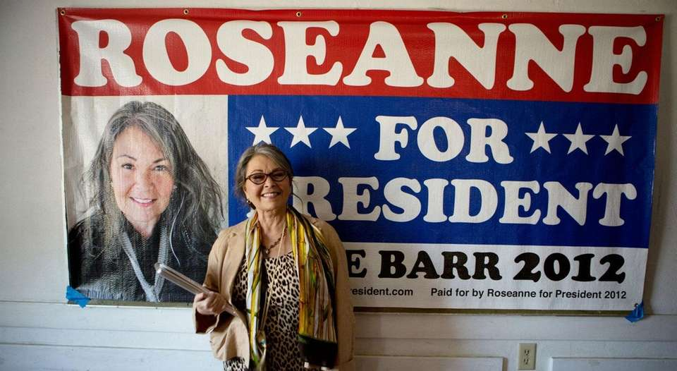 Actress Roseanne Barr, who made a run for