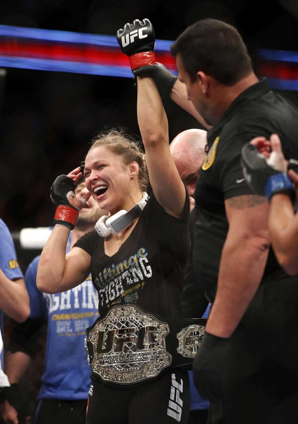 Rousey fought Liz Carmouche at UFC 157 on