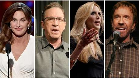 Caitlyn Jenner, Tim Allen, Ann Coulter and Chuck