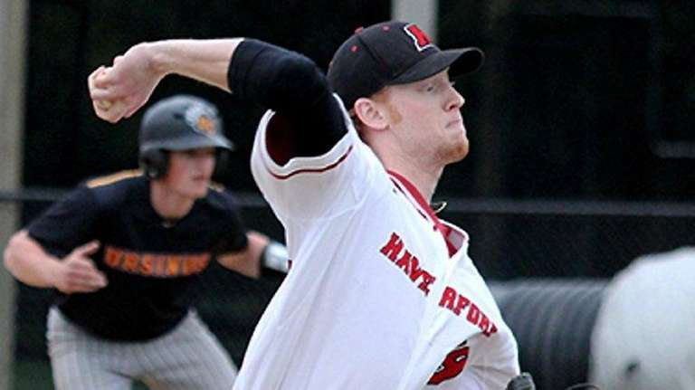 Stephen Ridings, pitching on April 16 for Haverford