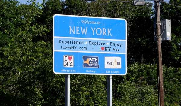 Eight large signs were erected at night on