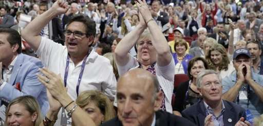Delegates react as some call for a roll