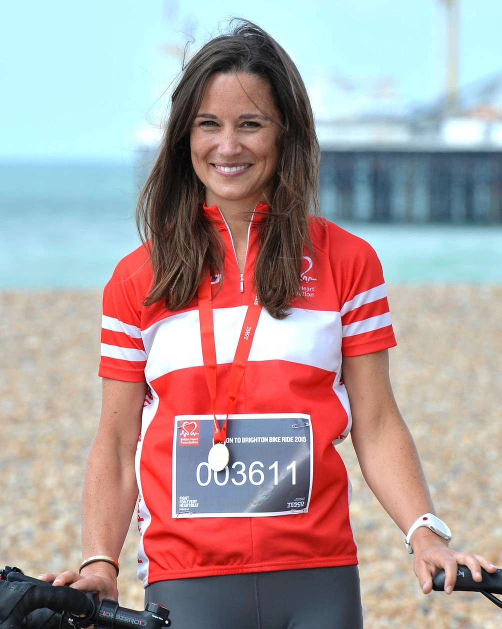 Pippa Middleton finishes the London to Brighton Bike