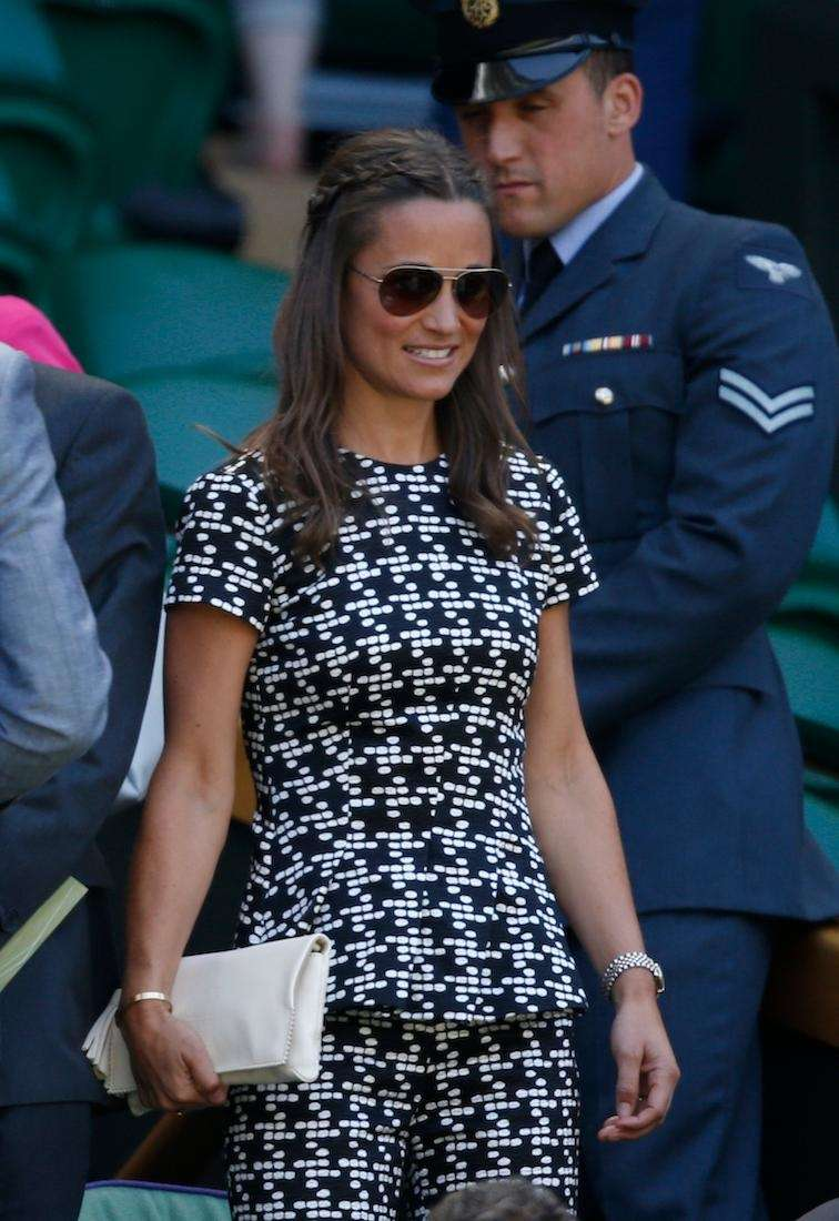Pippa Middleton takes her seat in the Royal