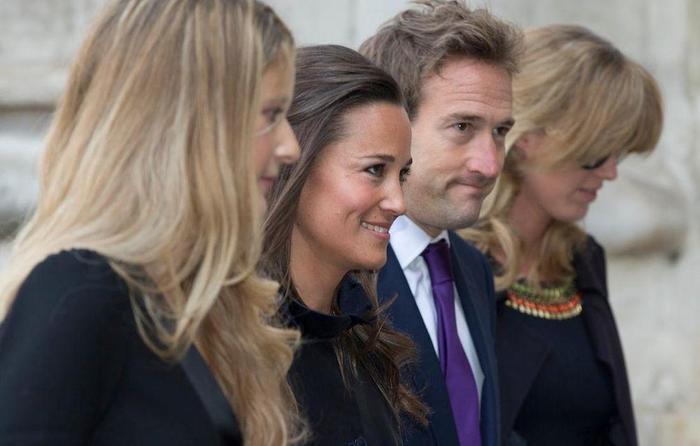 Pippa Middleton, second left, and broadcaster Ben Fogle,