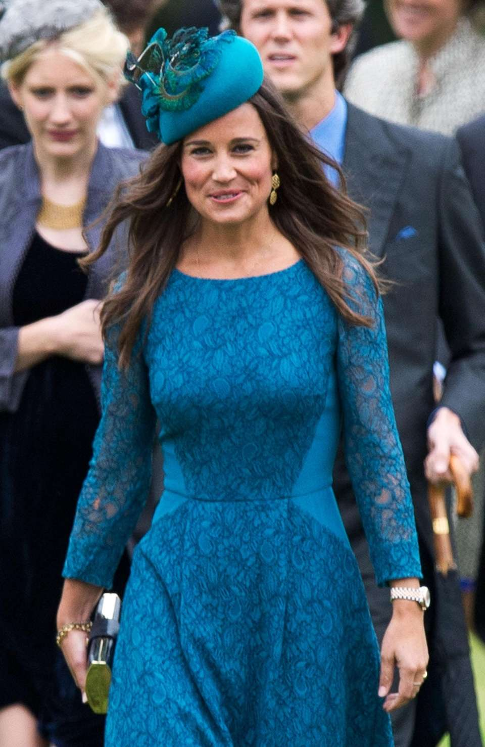 Pippa Middleton arrives at the wedding of James