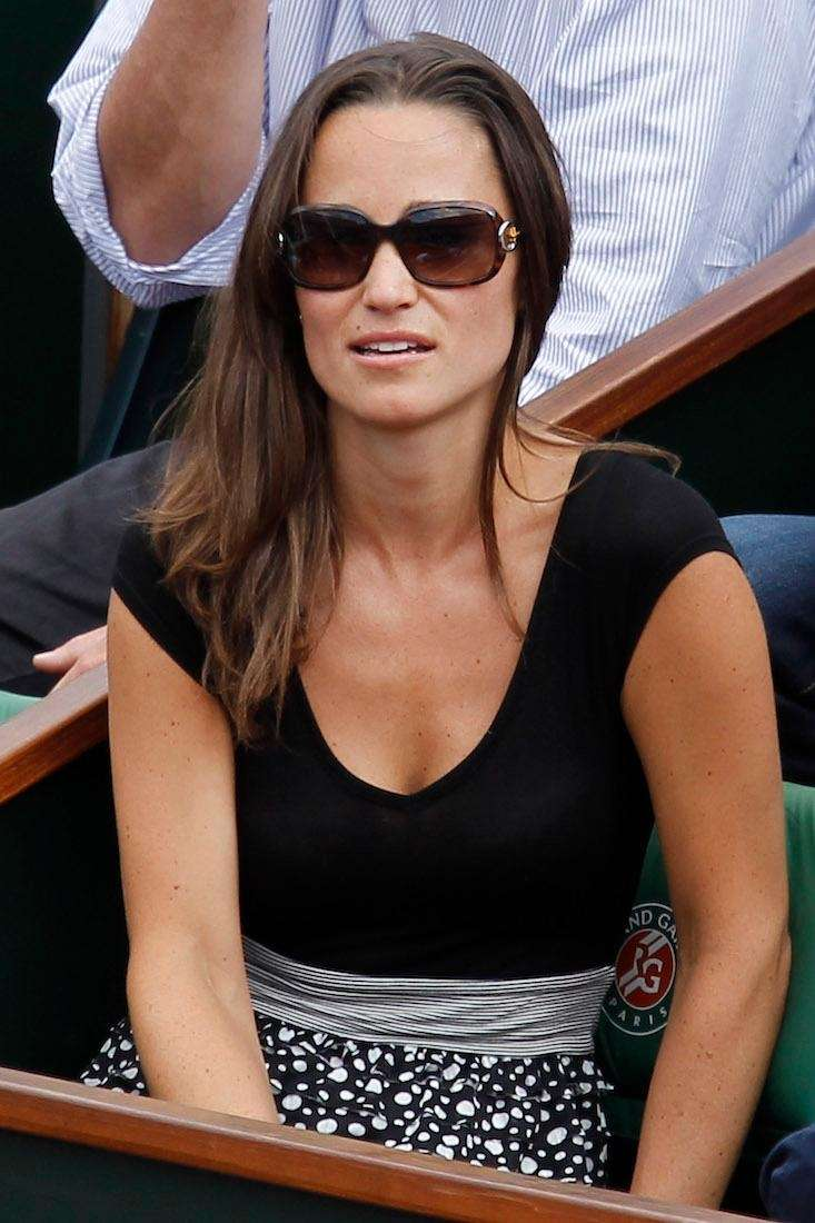 Pippa Middleton watches Sweden's Robin Soderling play France's
