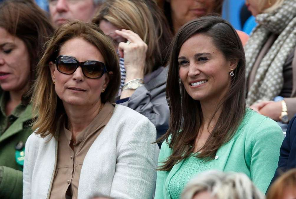 From left, Carole Middleton and Pippa Middleton watch