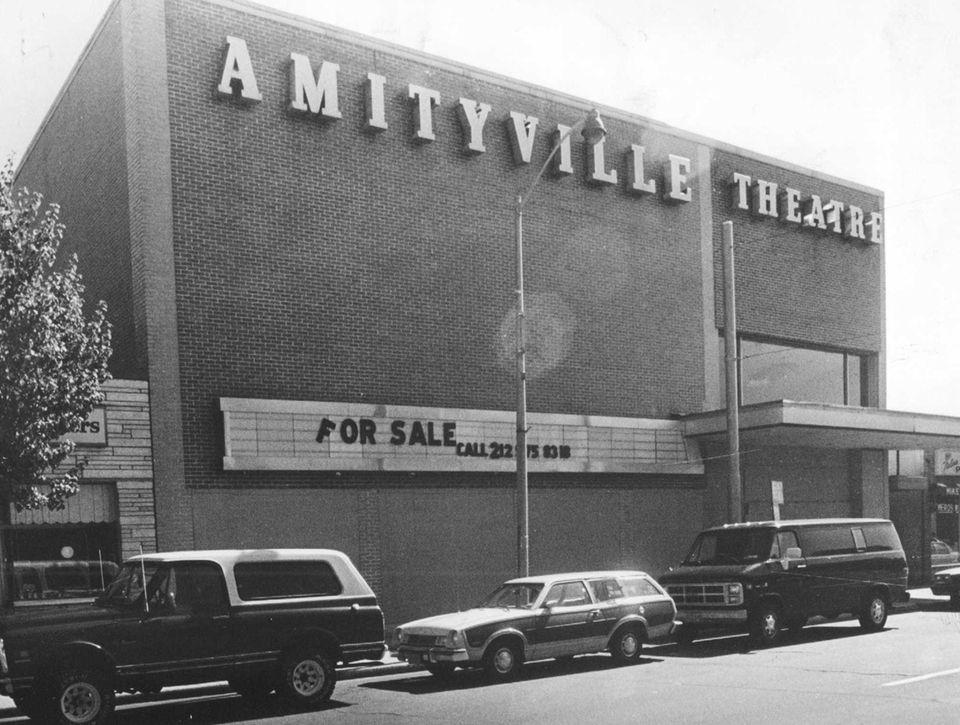 The Amityville Theatre on Broadway in Amityville, seen