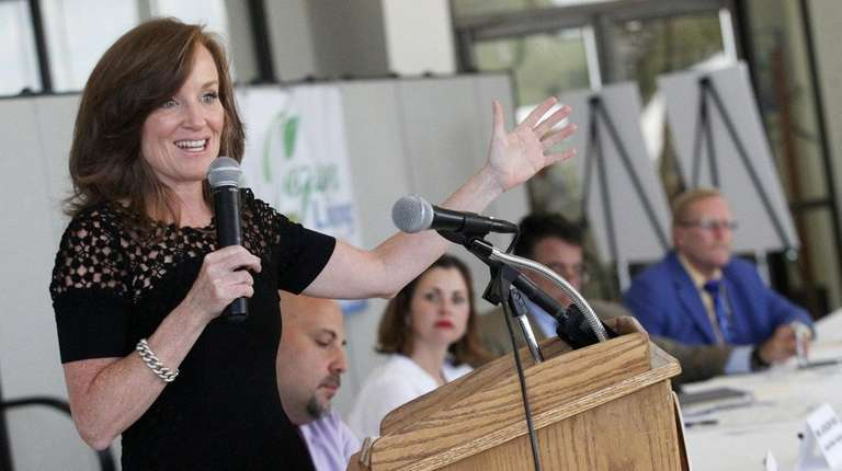 Rep. Kathleen Rice addresses a Vision Long Island