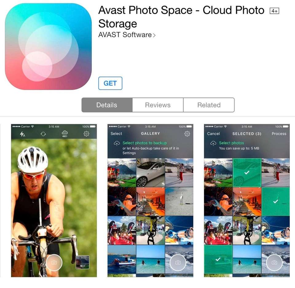 NAME Avast Photo Space WHAT IT DOES The