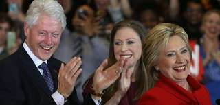 Hillary Clinton, with husband, former President Bill Clinton,