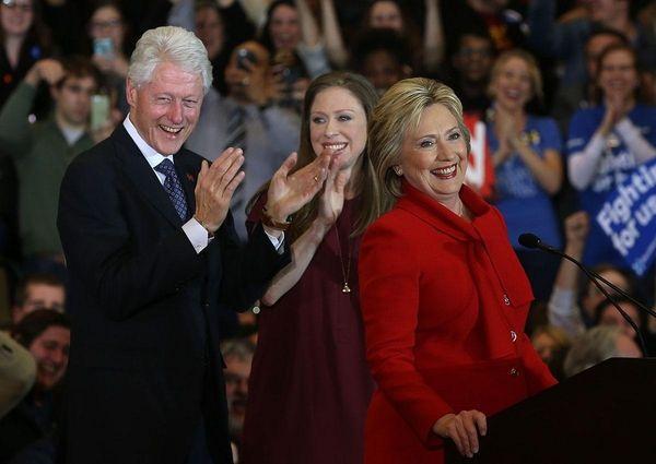 Hillary Clinton, with husband, former President Bill Clinton,