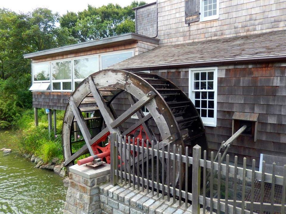 A 17th century grist mill still spins at