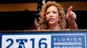 DNC Chairwoman, Debbie Wasserman Schultz, D-Fla., speaks during
