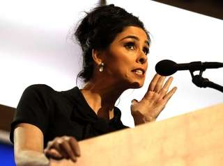 Comedian/actress Sarah Silverman, a Bernie Sanders supporter, said