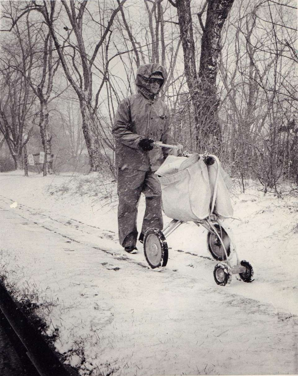 Mail Carrier Robert Knight of Patchogue delivers mail