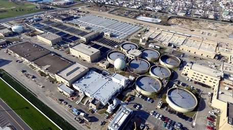 The Bay Park Sewage Treatment Plant in East