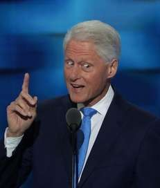 Former President Bill Clinton delivers remarks on the