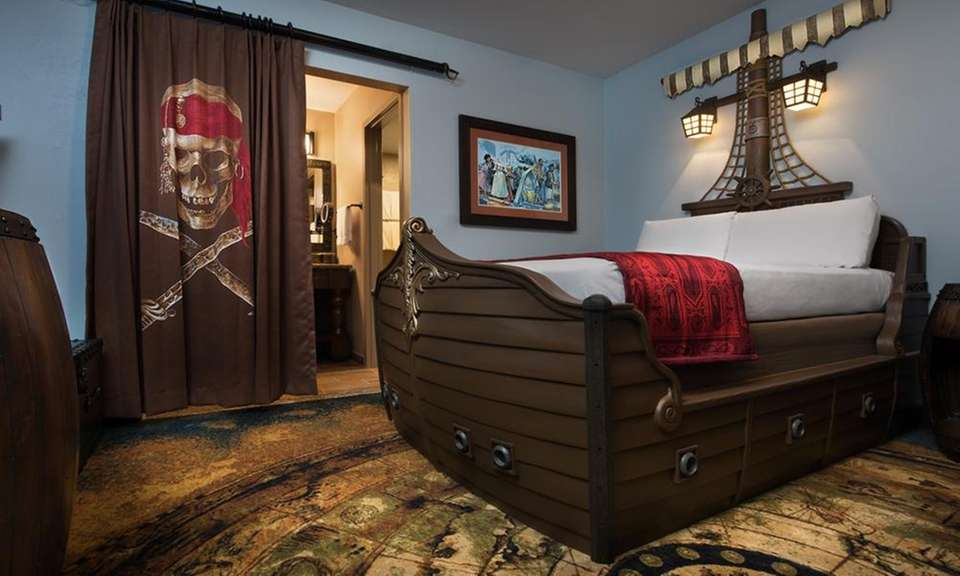 The pirate rooms at Disney's Caribbean Beach Resort