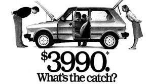 This 1986 Newsday ad touted the Yugo as,