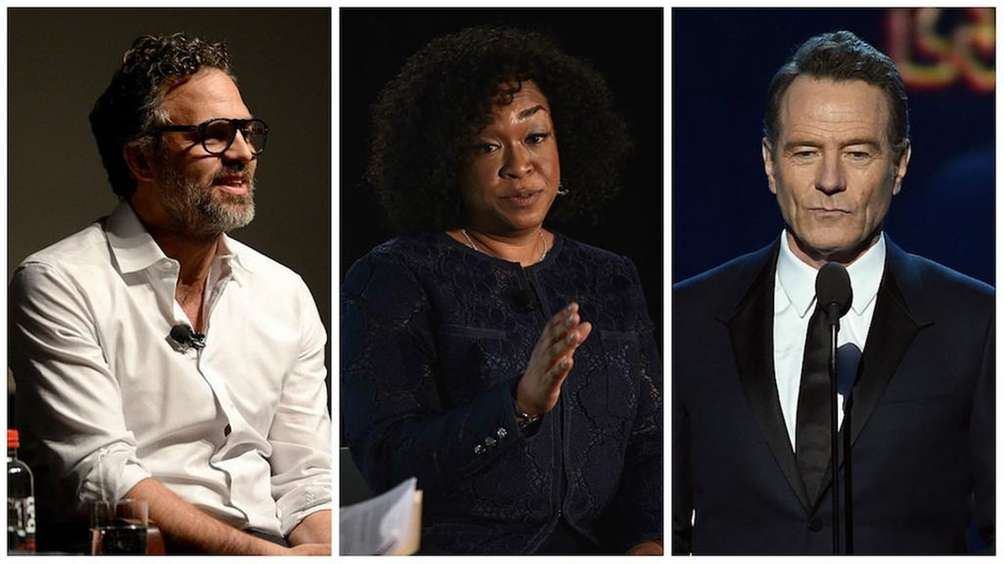 Actor Mark Ruffalo, producer Shonda Rhimes, actor Bryan