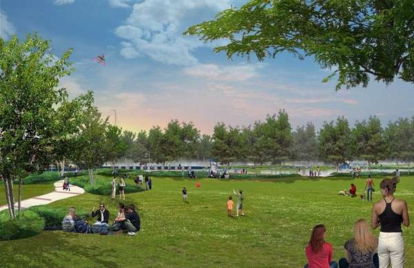 A conceptual rendering of a park at the