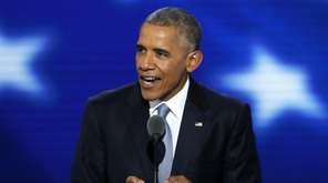 President Barack Obama speaks during the third day