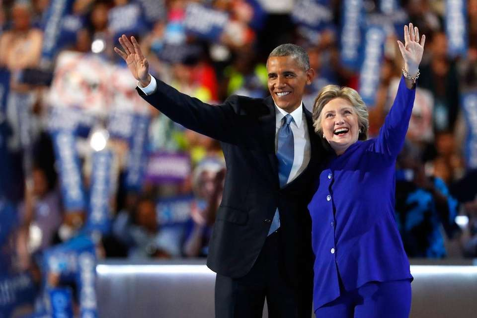 President Barack Obama and Democratic presidential nominee Hillary