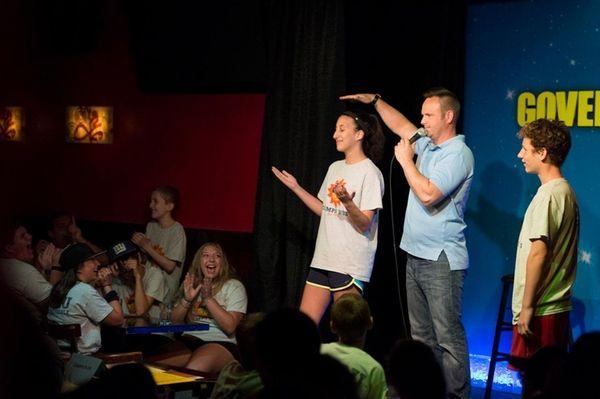 Comedian Tim Krompier hosts a King of Mic