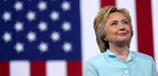 Democratic presidential candidate former Secretary of State