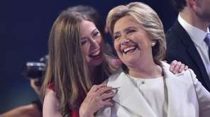 Democratic presidential nominee Hillary Clinton and her daughter