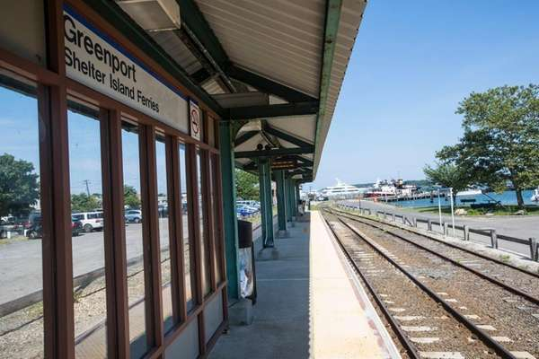 The Greenport LIRR train station is shown on