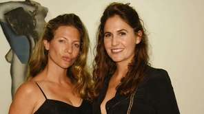 Amanda Bourne and Karine Macguder take in a