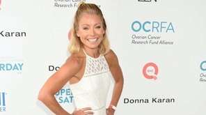 Talk show host Kelly Ripa arrives to host