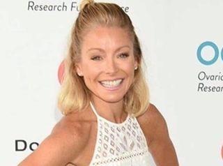 Talk show host Kelly Ripa arrives to host