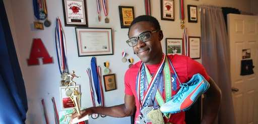 Track standout Tysheem Griffin, a recent graduate of