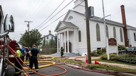 Firefighters respond to a call of a fire