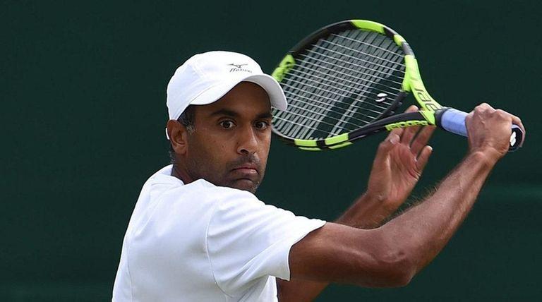 Rajeev Ram of the U.S. returns to Feliciano