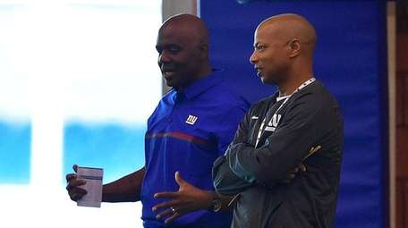 New York Giants general manager Jerry Reese looks