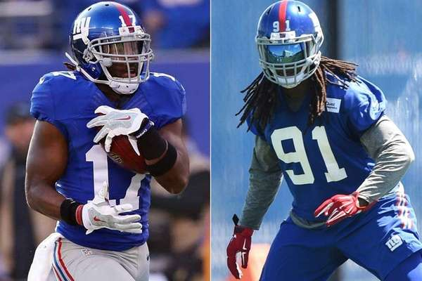 NFL Jerseys - Giants' Kelvin Sheppard and Dwayne Harris are family off the field ...