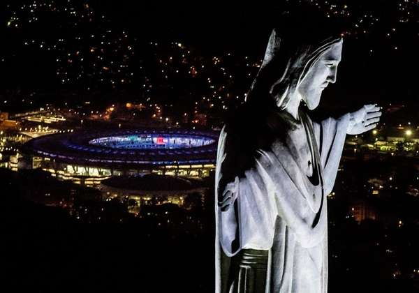 The Christ the Redeemer statue and Maracana Stadium