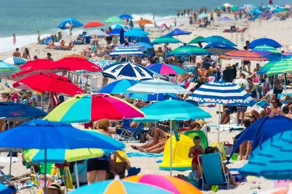 Summer heat brought people to the beach and