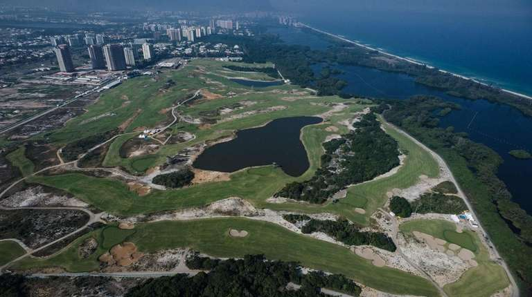 Aerial view of the Olympic Golf Course in