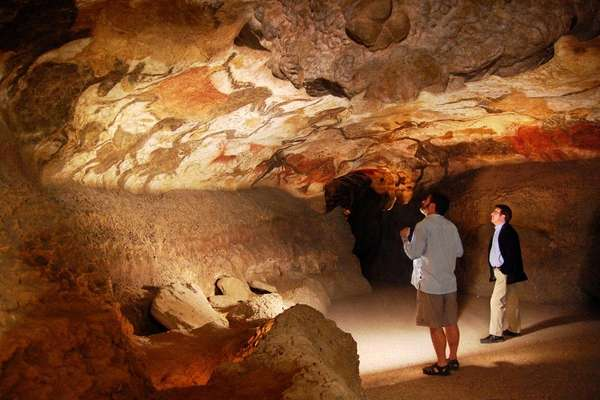 At Lascaux, visitors admire the artistic prowess of