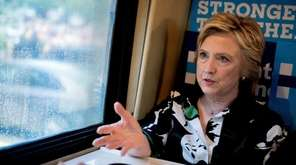Democratic presidential candidate Hillary Clinton speaks on her
