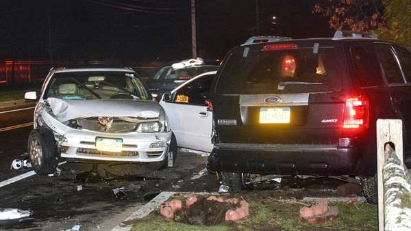 Three people were injured in a car accident