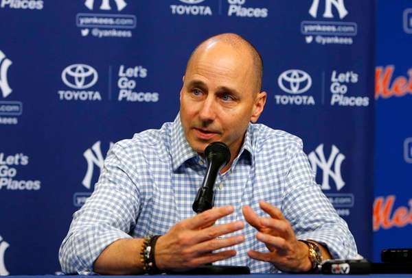 New York Yankees general manager Brian Cashman talks