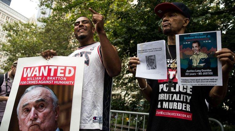 Josmar Trujillo, left, who lives in Spanish Harlem,