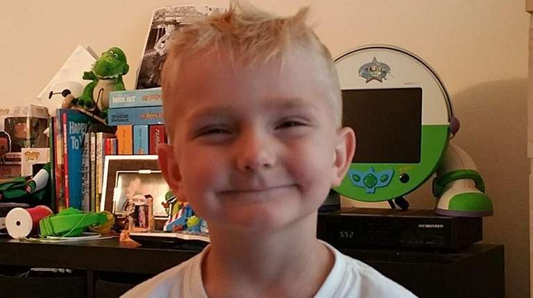Five-year-old Austin Spencer is battling neuroblastoma, the third